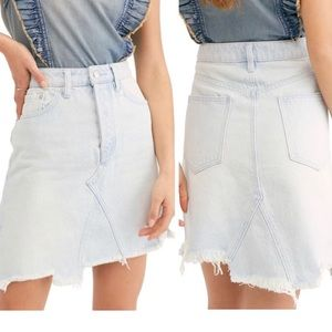 Free People Tidal Wave Jeans Skirt Size 25
